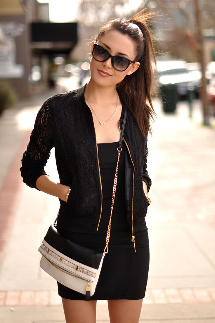 We're loving Jessica of Hapa Time in the Lace Bomber Jacket! #myalloy