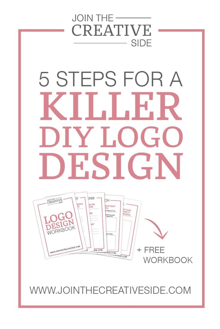 Join The Creative Side | 5 steps for a killer diy logo design. A logo says something about a brand. A brand with a well-designed logo looks more professional will be taken more seriously, and it will build a higher engagement. In this blog post I will teach you 5 steps you need in order to create a killer logo design for your brand. And this blog post also comes with a FREE workbook.