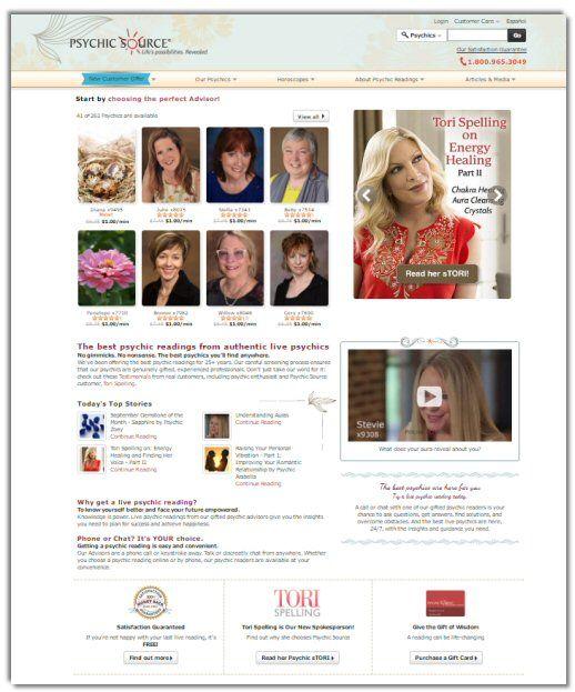 The Psychic Source Website Reader Portal