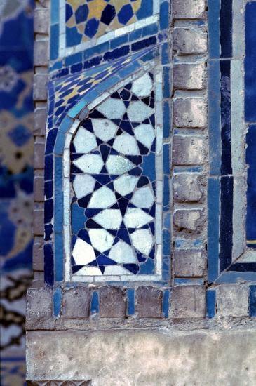 Royal Mosque Isfahan, mosaic tile detail.