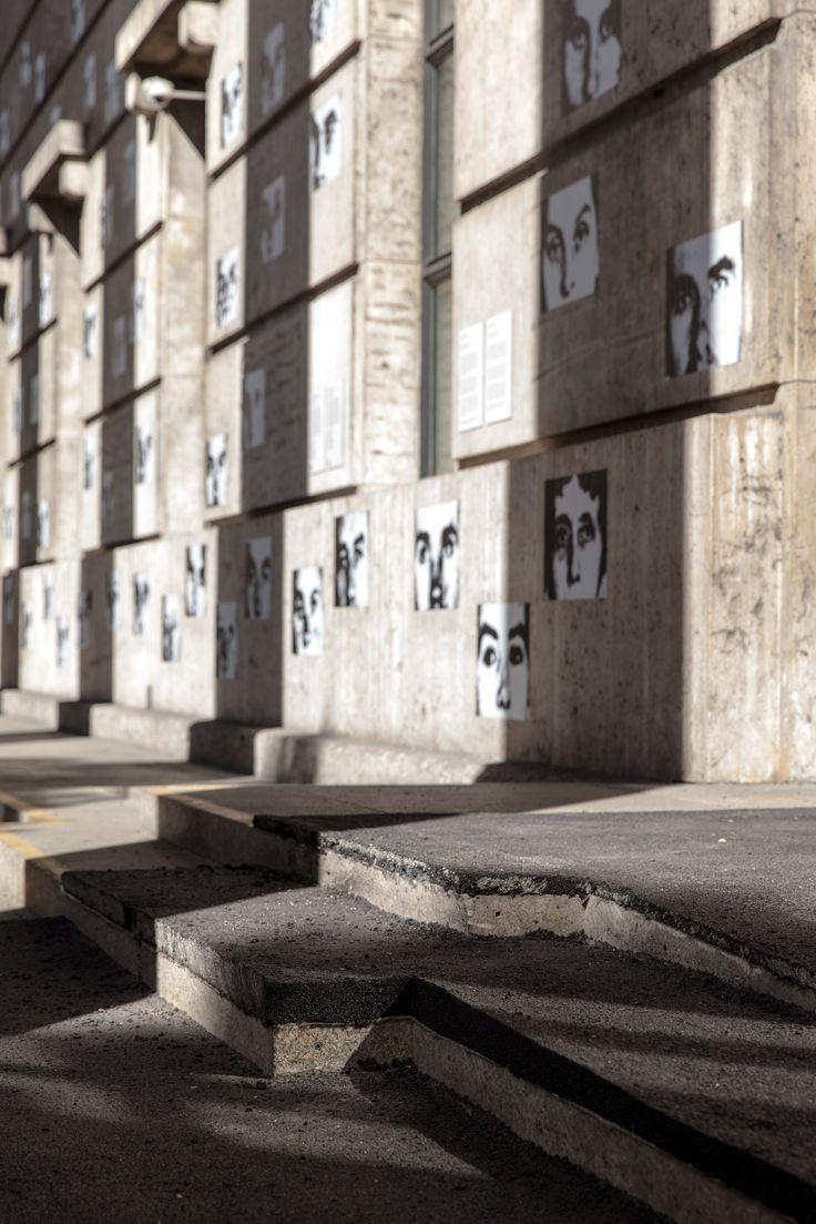 "2nd presentation of the Archive Gallery at Haus der Kunst, Reinstallation of Christian Boltanski's ""Résistance"" (1993), and Gustav Metzger's artwork ""Travertine/Judenpech"" (1999) © VG Bild-Kunst, Bonn, 2015, photo Maximilian Geuter"