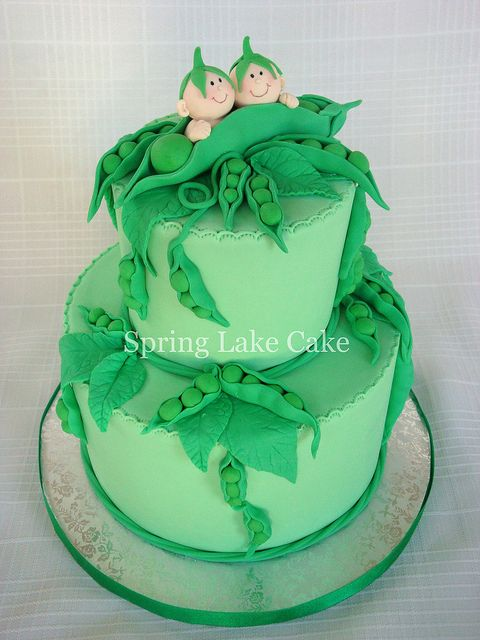 Two peas in a pod cake by springlakecake, via Flickr