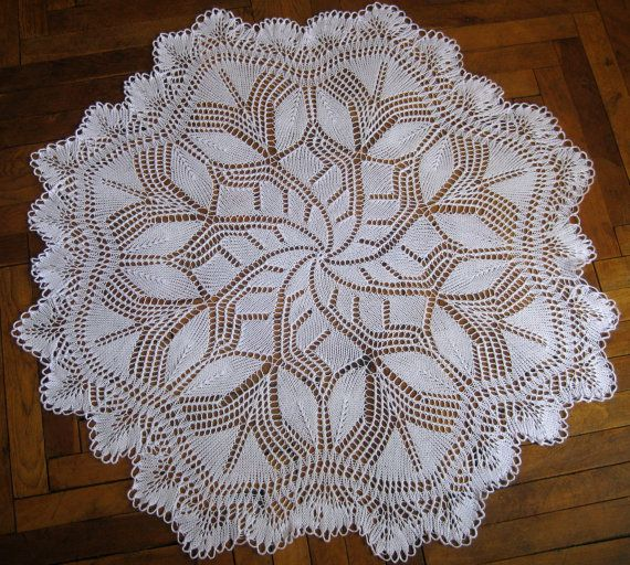 Knitting Pattern For Lace Tablecloth : 10 Best images about knitting doilies on Pinterest Tablecloths, Ravelry and...