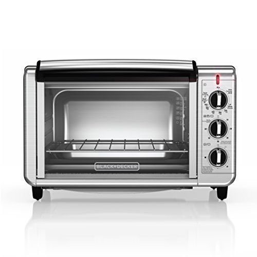 +DECKER 6-Slice Stainless Steel Countertop Convection Toaster Oven ...