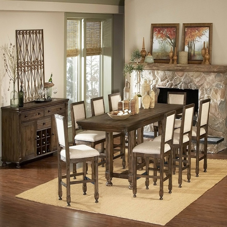 piece counter height dining set dining tables pinterest