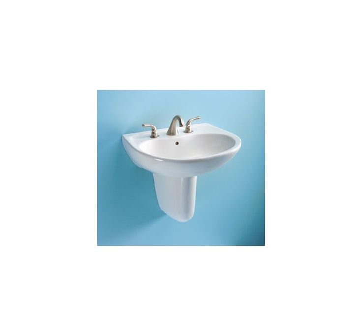 "Toto LHT241G Supreme 22-7/8"" Wall Mounted Bathroom Sink with Single Faucet Hole Cotton Fixture Lavatory Sink Vitreous China"