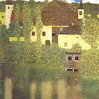 Schloß Ammer am der Attersee. 1908. Narodni Galerie Prague
