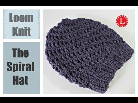 LOOM KNIT HAT Three Step Stitch Slouchy Beanie Snood Hat on any Extra Large Knitting Loom - YouTube