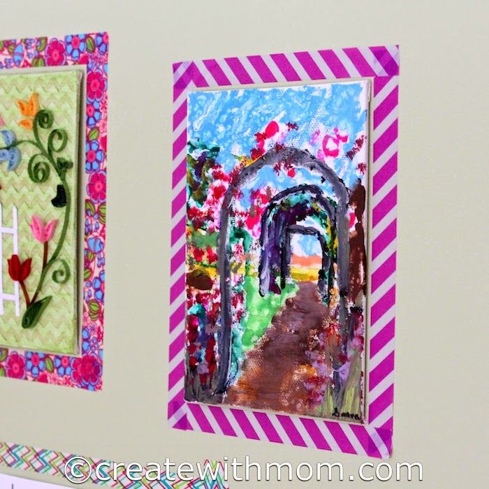 Create With Mom: Using Washi Tape as Frames