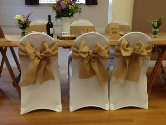1000+ Ideas About Burlap Chair Sashes On Pinterest