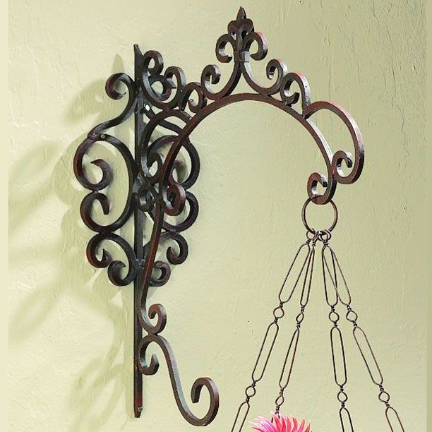 Art Deco Hanging Basket Brackets : Best images about wrought iron on steel