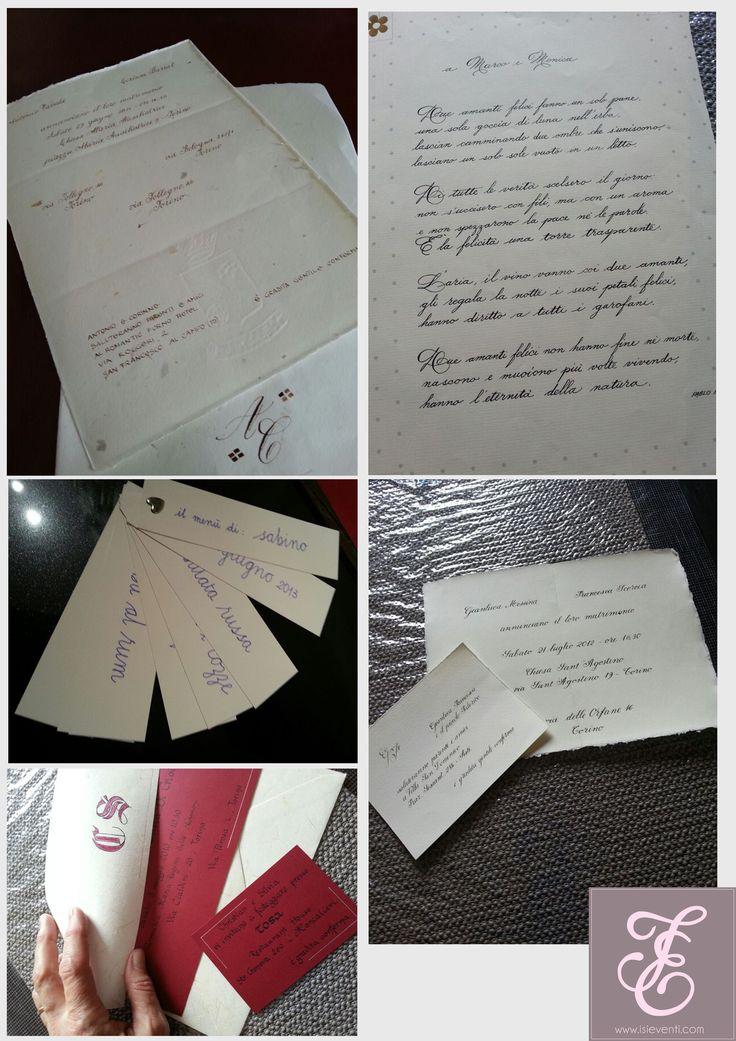 scrittura a mano, personalizzazione, pergamena , libro, menù, segnalibro, segna posto, partecipazione, pennino, isi eventi www.isieventi.com