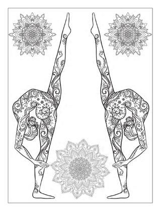 This Is A Free Preview Of The Book Yoga And Meditation Coloring For Adults
