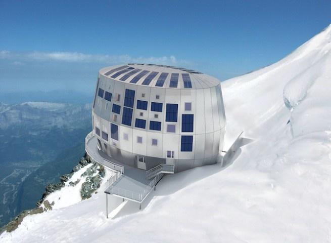 Futuristische architectuur in de Alpen