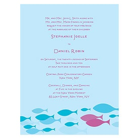 """Wedding Star """"Of All the Fish in the Sea."""""""