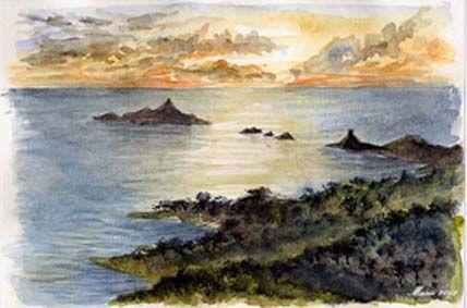 aquarelle de la Corse