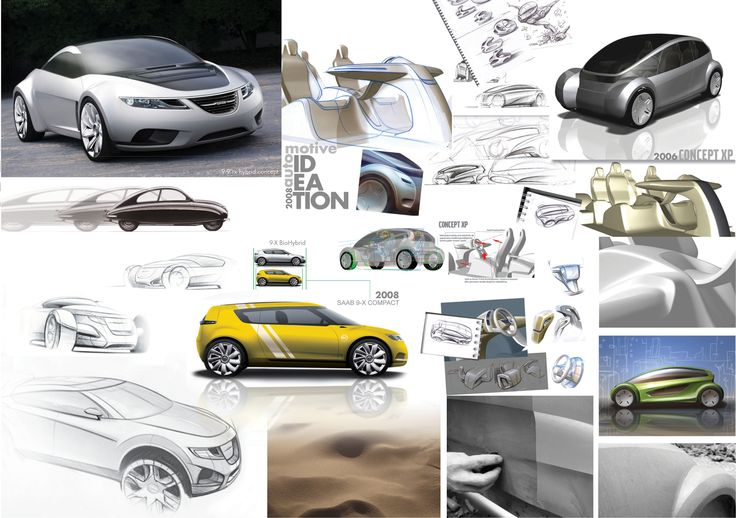 AUTOMOTIVE CONCEPTS / By PONTUS NY. Sketch examples, pre-studies and conceptual design. 2006 - 2008. Consultant. Sweden.