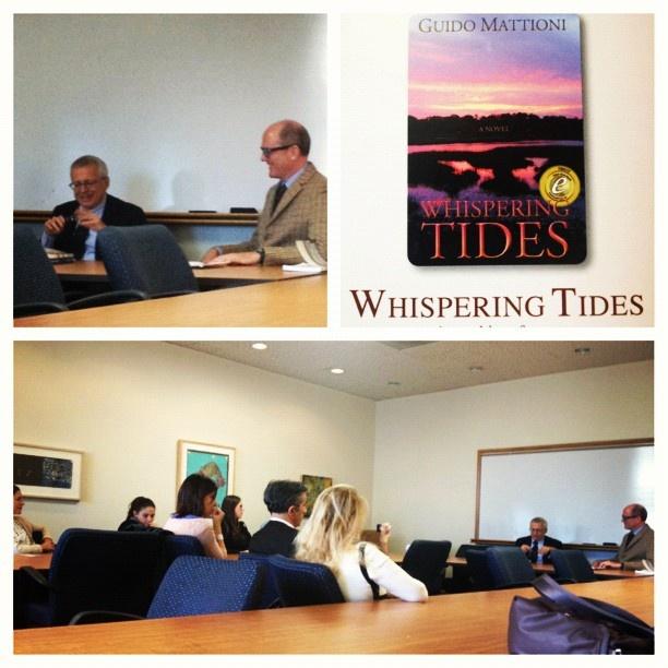 "Presenting my novel ""Whispering Tides"", set in Savannah, at Georgia State University - Atlanta, November 1th 2012"