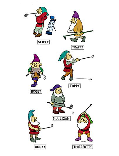 Alex Gregory: Golf cartoon