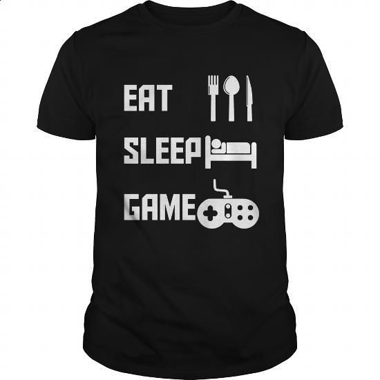 Eat Sleep Game Video Games - #band t shirts #dc hoodies. CHECK PRICE => https://www.sunfrog.com/Gamer/Eat-Sleep-Game-Video-Games-144164022-Black-Guys.html?60505