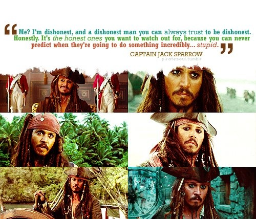 """Jack Sparrow Quotes: 53 Best Jack Sparrow... Um. There Should Be A """"Captain"""" In"""