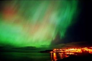 Northern Lights along the coast