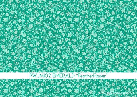 Lovelorn Feather Flower Emerald