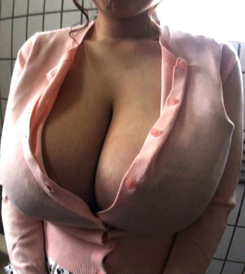 Something is. Big boobs constant button open