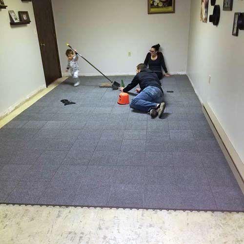 Floating Basement Floor Carpet Tiles Raised In 2020 Carpet Tiles Basement Carpet Tiles Basement Carpet