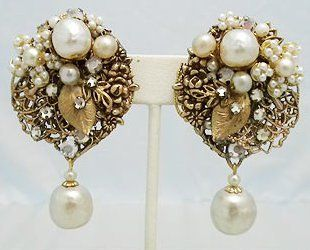 Love this Miriam Haskell earrings collection.