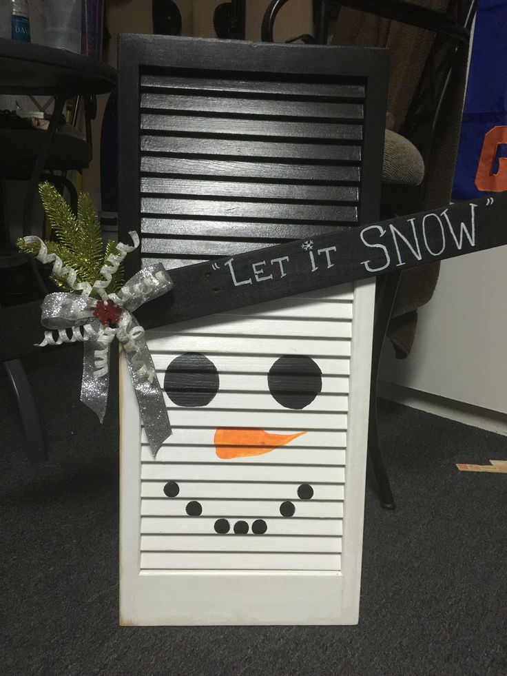 Shutter Snowman Let It Snow Crafty Things To Make