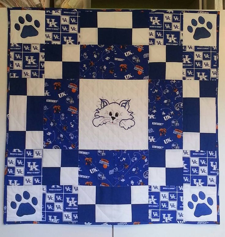Go Baby Cats Uk Wildcats Baby Quilt Baby Quilts Sports