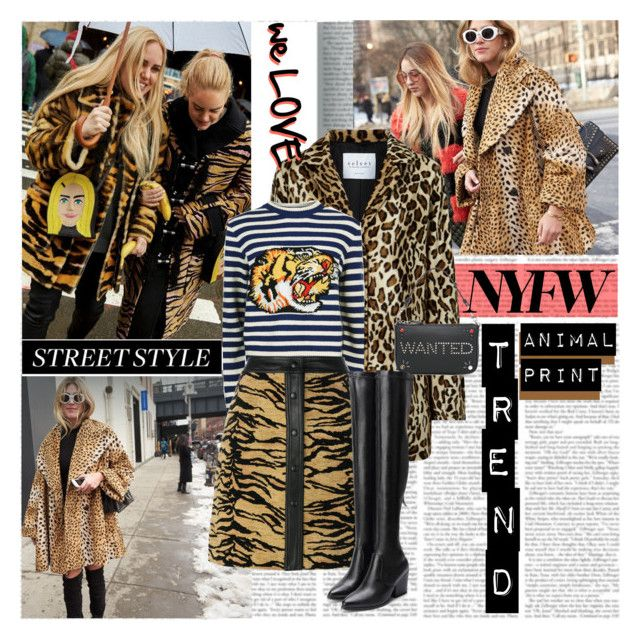 NYFW Street Style Trend Anymal Print by stylepersonal on Polyvore featuring polyvore, fashion, style, Gucci, Velvet, ADAM, Coach and clothing