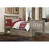 NE Kids Highlands Harper Twin Slat Storage Bed in Driftwood Tessa's room