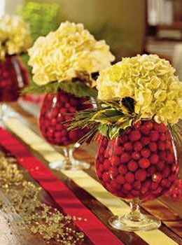 Winter Wedding Ideas - Cranberry and Hydrangea -