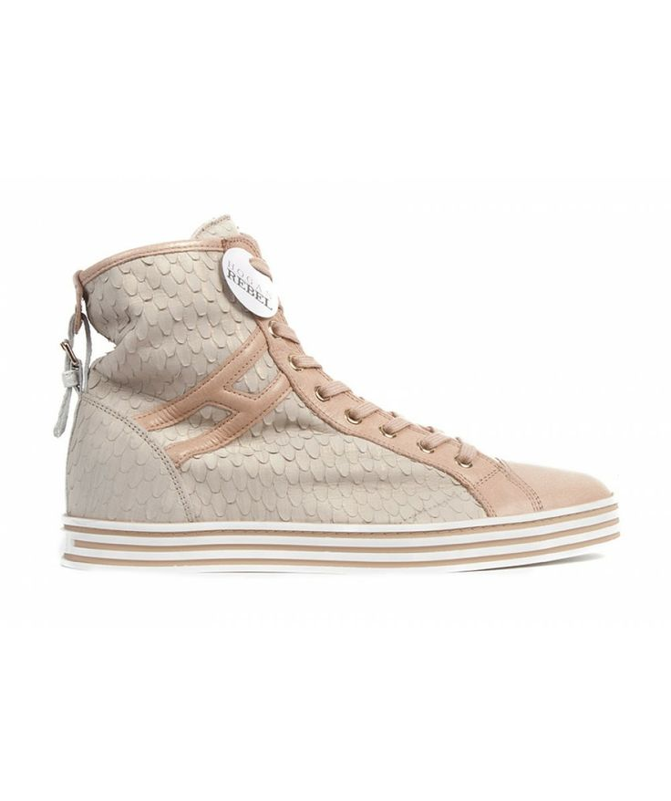 Groppetti Luxury Store - Sneakers Alta con Fibbia - Hogan Rebel Shoes Woman Spring Summer 2014 #hogan #hoganshoes # hoganrebel #fashion #woman