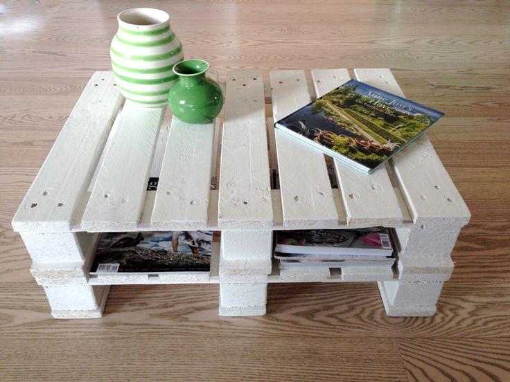 Sofabord af 1/2 paller. Se mere på www.mystack.dk
