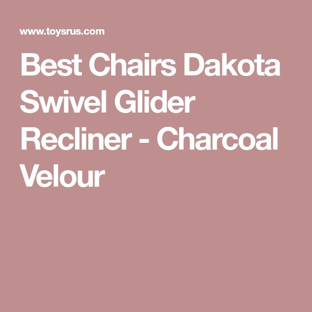 Best Chairs Dakota Swivel Glider Recliner - Charcoal Velour