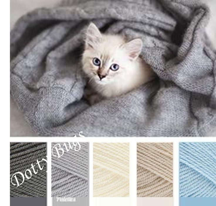 Stylecraft Special DK - Colour Idea graphite, silver, cream, parchment, cloud
