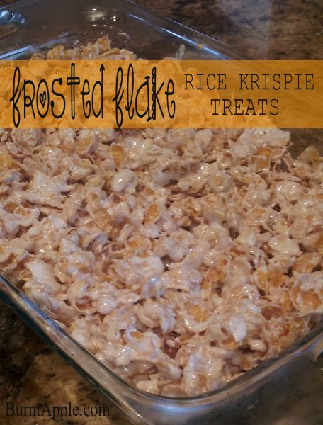 Frosted Flake rice krispie treats