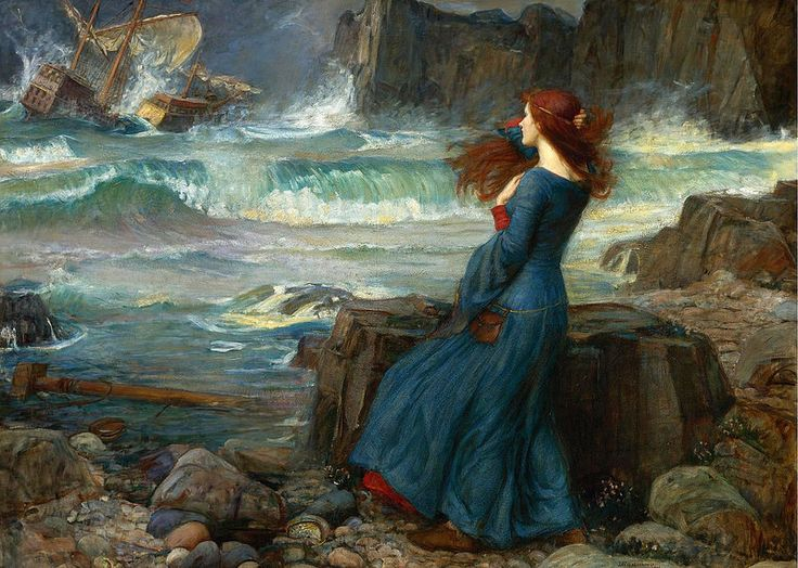 John William Waterhouse - Miranda and the Tempest [1916]