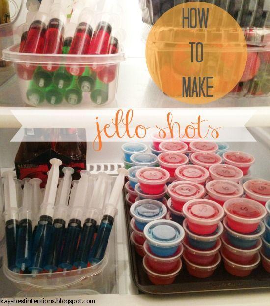 Jello shot recipe - add a little sugar to cut out the alcohol taste