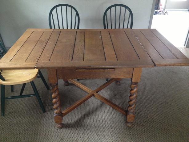 antique wooden dining room table