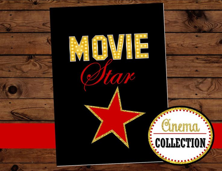 MOVIE PARTY - HOLLYWOOD MOVIE STAR SIGN