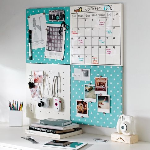 PBteen 2x2 Pool Dottie Style Tile Set: Keep all the clutter off your desk and neatly on the wall #17college