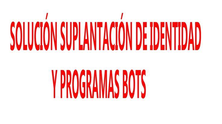 Solución suplantación canal de YouTube Jaime Patiño