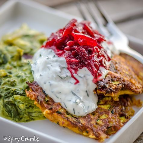 Cuketové omeletky a krémovým mangoldem na indický způsob - Spicy Crumbs