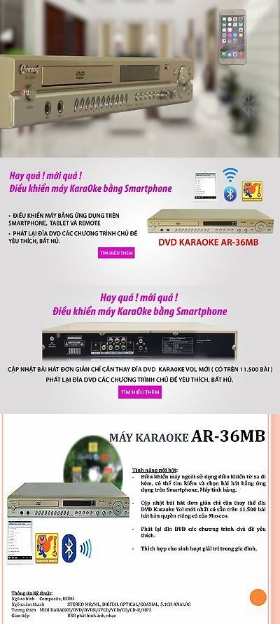 Other Home Stereo Components: Arirang Ar-36Mb Bluetooth Karaoke Player + Latest Dvd Vol 59 Vietnamese English -> BUY IT NOW ONLY: $329.95 on eBay!