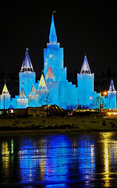 Ice Castle @ the St Paul Winter Carnival. The cold doesn't stop us from enjoying the outdoors!