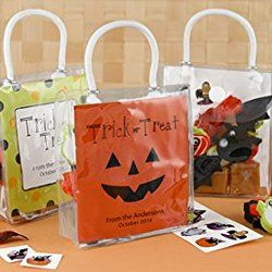 Personalized Halloween Treats and Favors (Mini Gift Tote)